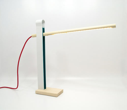 Peg Lamp Inspired by a Clothespin by William McDonald