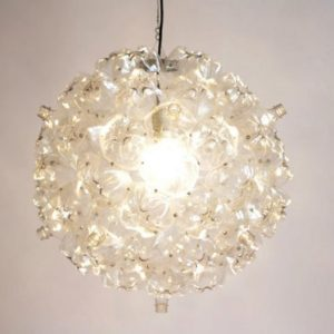 Bubble Chandelier Made from Post-Consumer PET Bottles