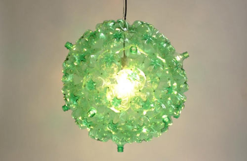 Bubble Chandelier Made from Post Consumer PET Bottles in main home furnishings  Category