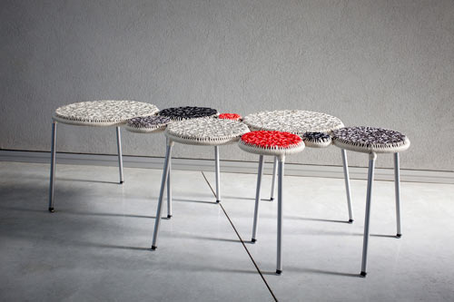 Punti Woven Bench by Gaga & Design in main home furnishings  Category