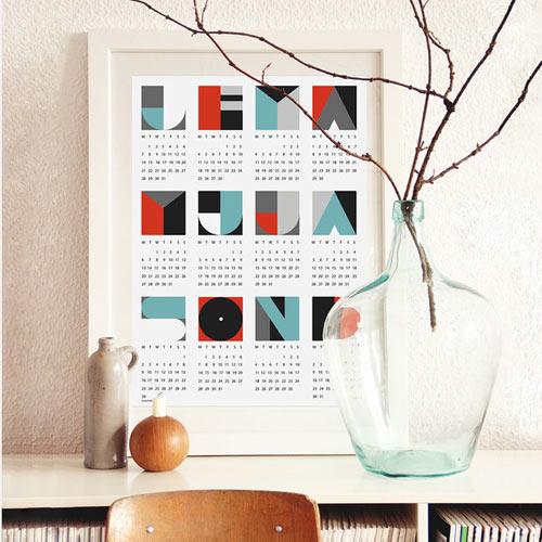 Calendar Design Baby : The best modern calendars design milk
