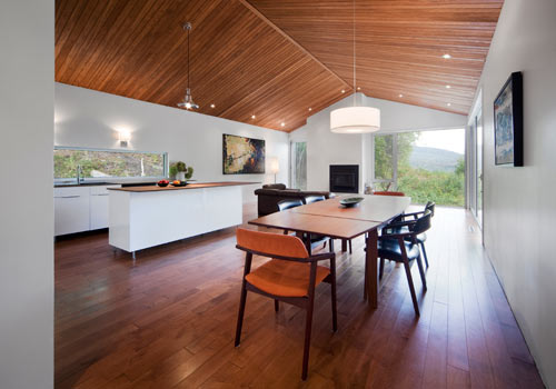 Wood Covered Home in the Woods by Blouin Tardif Architecture in main architecture  Category