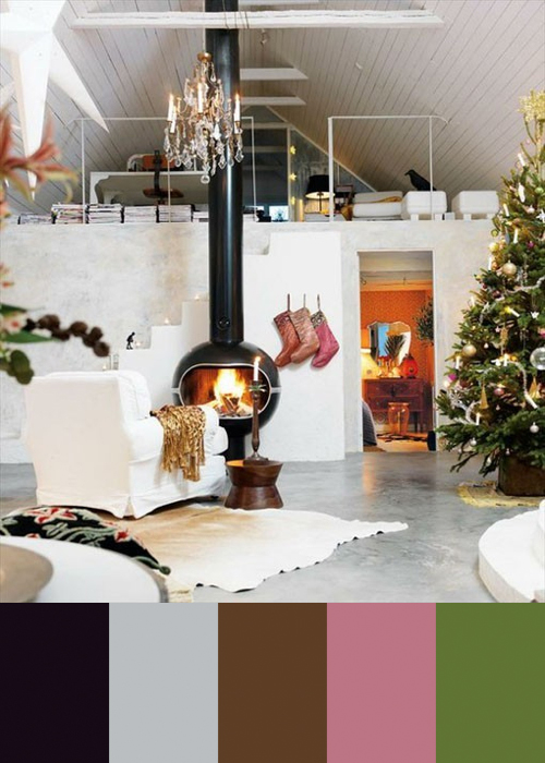 Colorful Modern Xmas Decor in main interior design  Category
