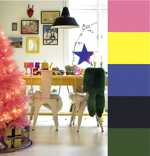 Colorful Modern Xmas Decor