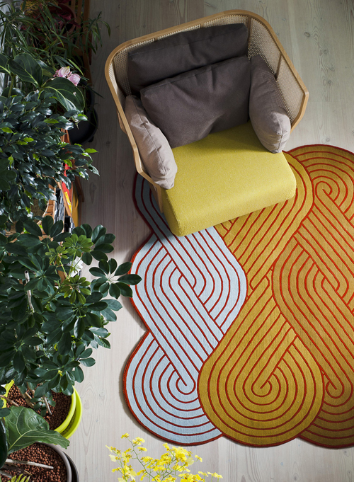 Tresse Rug Collection by Samuel Accoceberry for Chevalier Edition in main home furnishings  Category