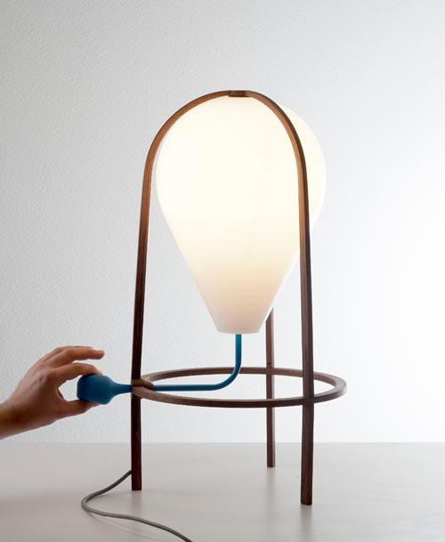 A Lamp That You Pump Up? Olab by Grégoire de Lafforest