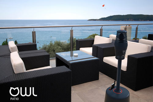 OWL Patio Keeps The Subwoofer Low And Elevates The Sound Up To Ear Level.
