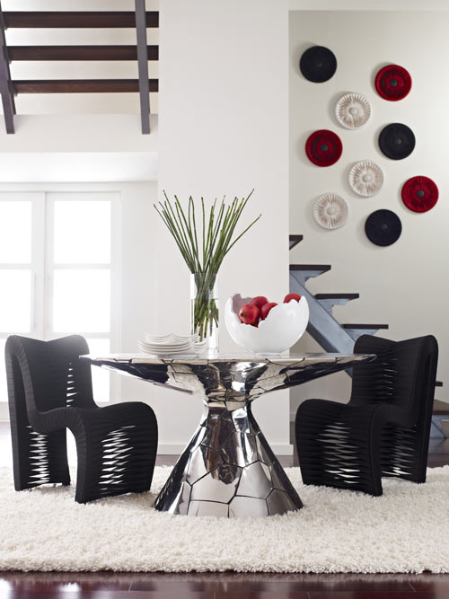 Crazycut Hand Cut Chrome Mosaic Furniture by Phillips Collection in home furnishings  Category