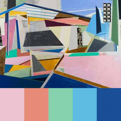 David Collins Geometric Paintings in art  Category