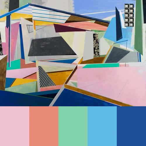 David Collins' Geometric Paintings