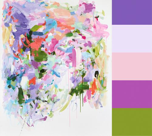 Yolanda Sanchez's Abstract Paintings