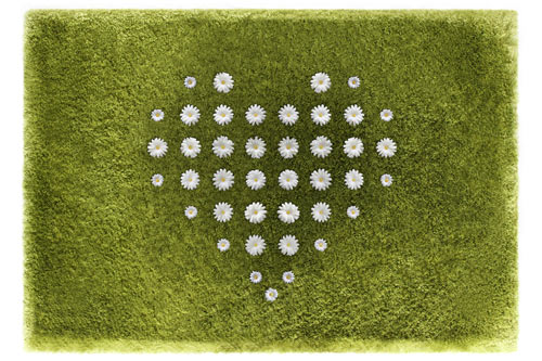 Daisy Garden Rug by Joe Jin in main home furnishings  Category