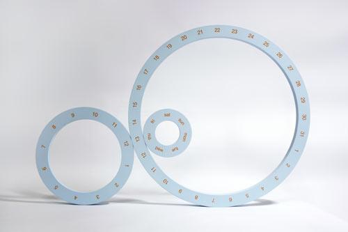 ONE Perpetual Calendar Circles by Jeong Yong