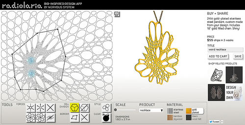 Design Your Own Jewelry with Nervous Systems New Radiolaria App in style fashion main  Category