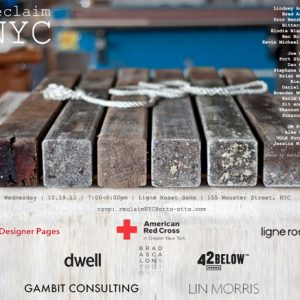 Reclaim NYC Charity Exhibit and Auction for Sandy Relief