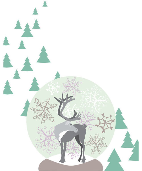 Fresh From The Dairy: Reindeer in technology style fashion main art  Category