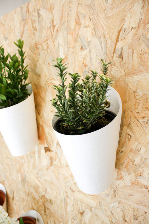The design holds a plant on an indoor or outdoor wall, giving new and easy  ways to decorate that bare space or fence you have in the backyard.