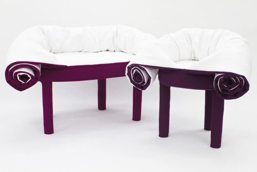 Collerette Convertible Pouf by Les M Design Studio for Casamania