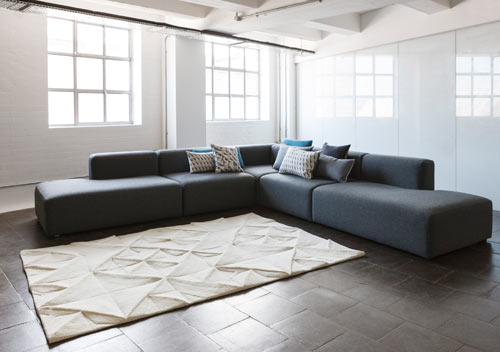 Geo Rug by Ella Doran for WovenGround in main home furnishings  Category