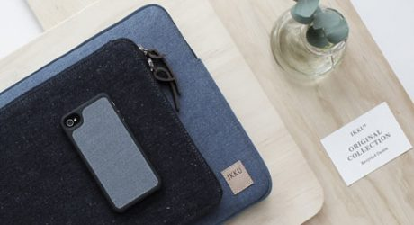 Recycled Denim & Canvas Tech Cases by Ikku