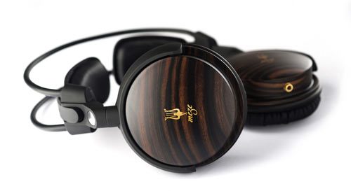 Elegant, Modern Wood Headphones by Meze in technology style fashion  Category