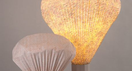Pleated Vapeur Lamps by Inga Sempé
