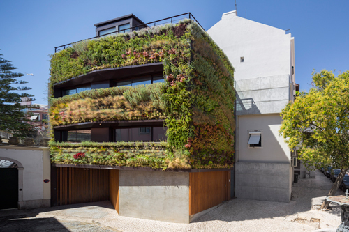 A Plant-Covered Home: House Patrocinio by Rebelo de Andrade