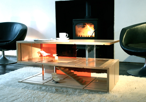 QUBIS HAUS DualPurpose Coffee Table and Dollhouse  Design Milk