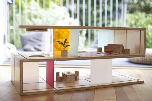 QUBIS HAUS: Dual Purpose Coffee Table and Dollhouse in style fashion main home furnishings  Category