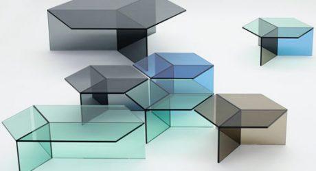 Hexagonal Glass Tables: Isom by Sebastian Scherer