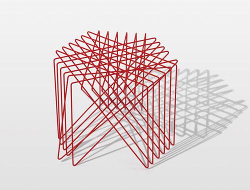 Line Art Graphic Design : A nod to graphic design line furniture by shinn asano