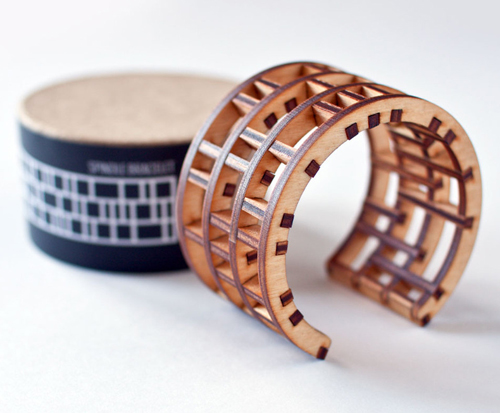 Modern Architecture on your Wrist: Spindle Bracelet by EVRT Studio