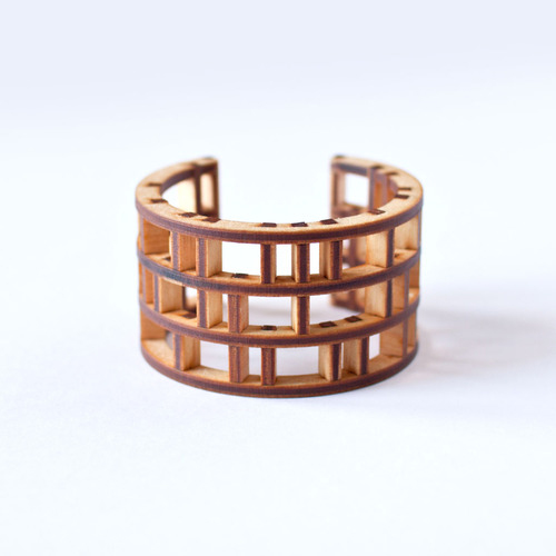 Modern Architecture on your Wrist: Spindle Bracelet by EVRT Studio in style fashion  Category