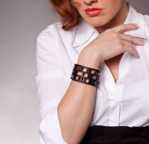 Modern Architecture on your Wrist: Spindle Bracelet by EVRT Studio in style fashion main  Category