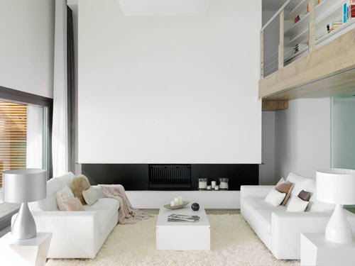 Pure White: A Cliff Side House Interior by Susanna Cots in main interior design  Category