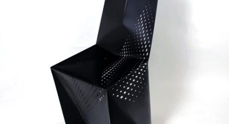 Geometric Perforated Seating: Sylki Chair by Brooks Atwood