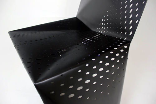 Geometric Perforated Seating: Sylki Chair by Brooks Atwood in main home furnishings  Category