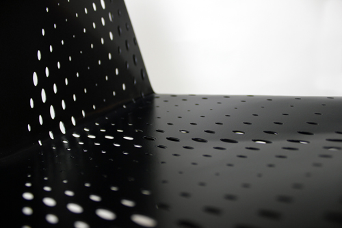 Geometric Perforated Seating: Sylki Chair by Brooks Atwood in home furnishings  Category