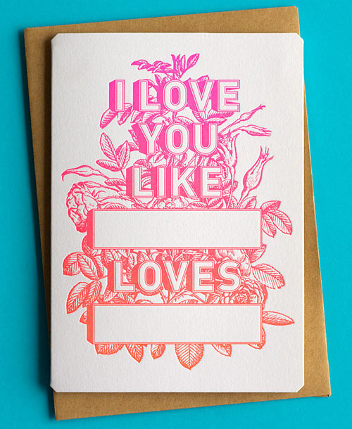 Love You Mean It 20 Awesome Valentines Day Cards Design Milk – Cool Valentines Day Card