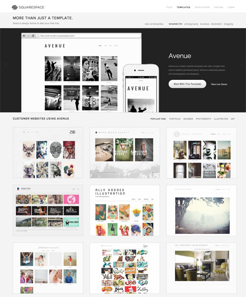 Try on a new website in the new year with squarespace for Best squarespace template for video