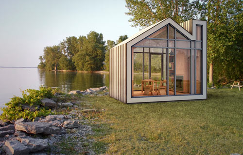 the bunkie sleeping cabin architecture meets industrial design - Prefab Modern Cabin