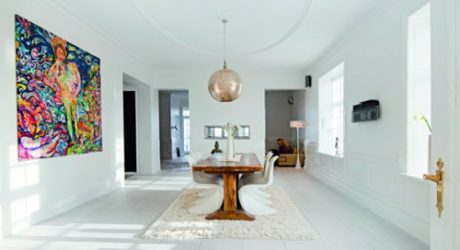 Decorating Ideas: 12 White Rooms with Pops of Color
