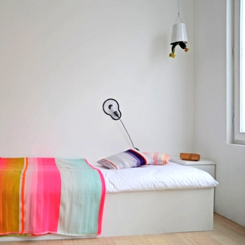 White Bedroom With Pop Of Color decorating ideas: 12 white rooms with pops of color - design milk