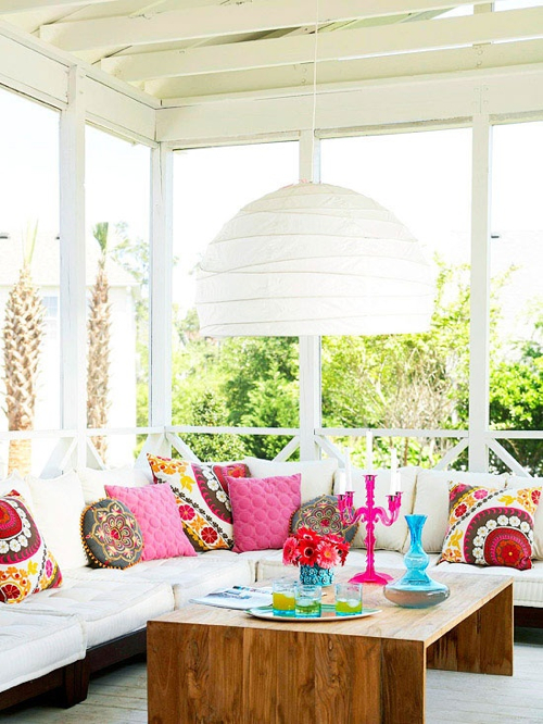 Decorating Ideas 12 White Rooms With Pops Of Color
