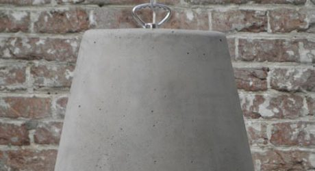 Concrete and Rubber Lamps by Renate Vos