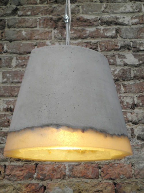 Concrete and Rubber Lamps by Renate Vos in main home furnishings  Category