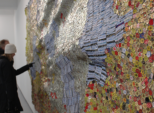 Tapestries of Trash by El Anatsui in main art  Category