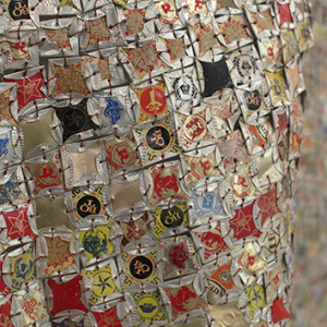 Tapestries of Trash by El Anatsui
