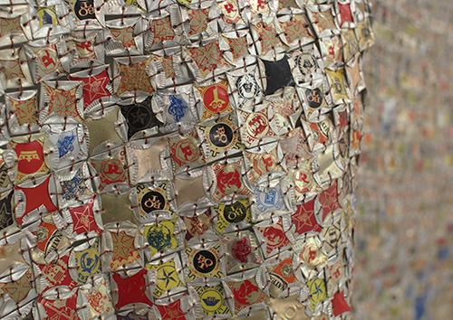 Tapestries of Trash by El Anatsui