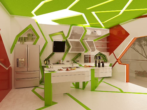 cubism in the kitchengemelli design studio - design milk